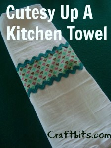 Cutesy Up a Kitchen Towel