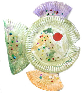 Kids Craft: Paper Plate Fish