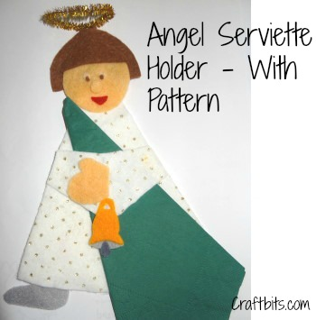 Serviette Holder: Angel Shaped