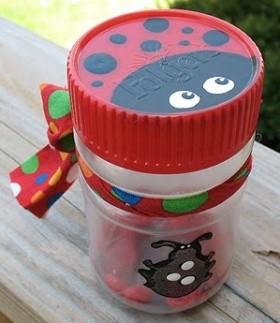 Recycled Ladybug Jar