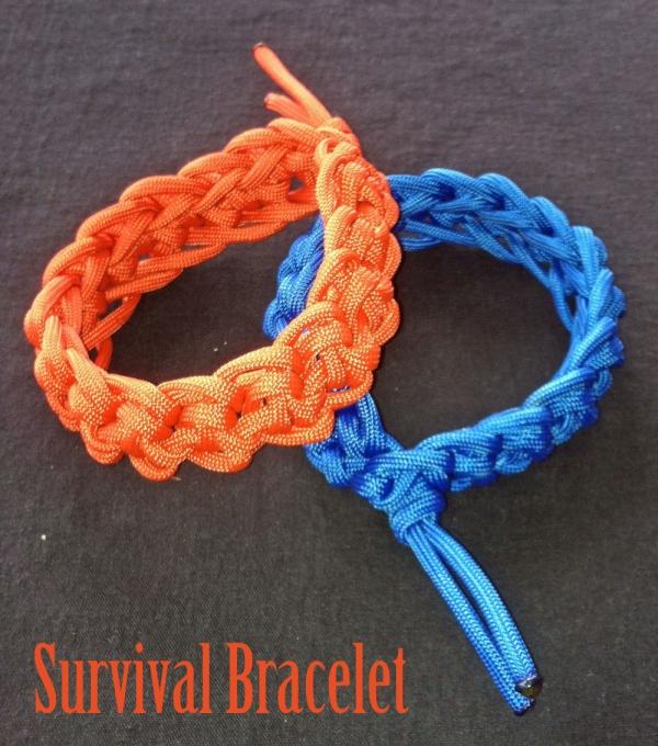 Survival Bracelet Done In Crochet