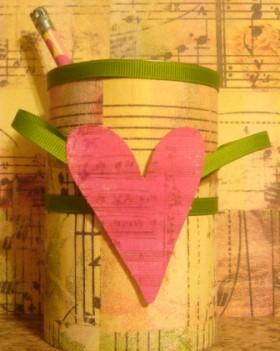I Love Music Pencil Holder