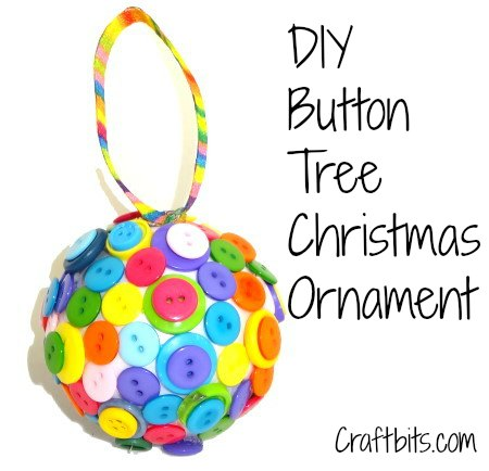 DIY Tree Ornament: Buttons Galore