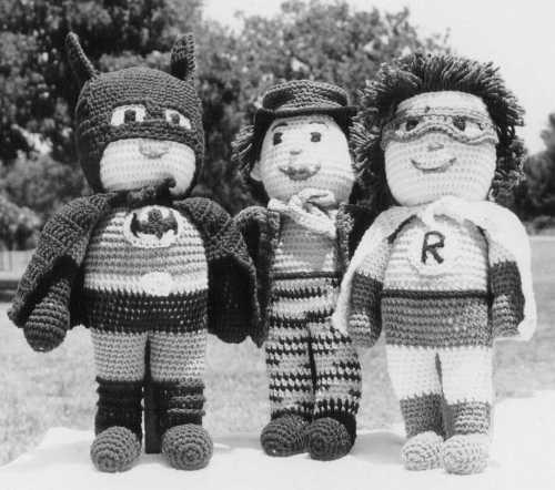 crochet batman and robin