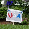 4th Of July Lawn Sign