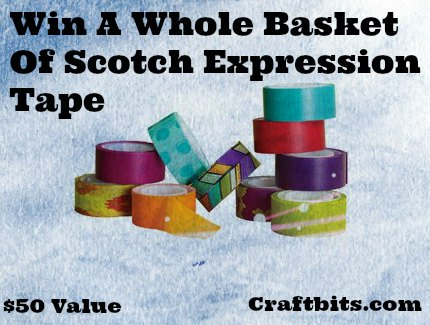 Win A $50 value Scotch Expression Tape Basket