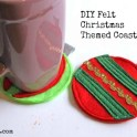 Felt Christmas Ornament Coasters