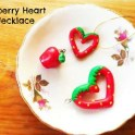 strawberry-heart-clay-necklace
