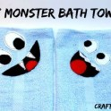 DIY Monster Bath Towels