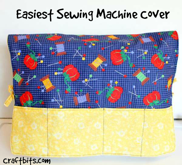 Easy sewing machine cover — craftbits