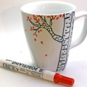 fall birch tree mug