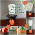 Fall Pumpkin Candle Holder