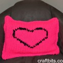 pinke side heart pillow