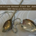 Recycled Spoon Coat Of Arms Pendant