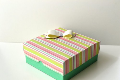 Valentine's Day Paper Gift Box