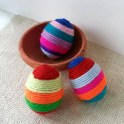 Create Colorful Yarn Wrapped Eggs