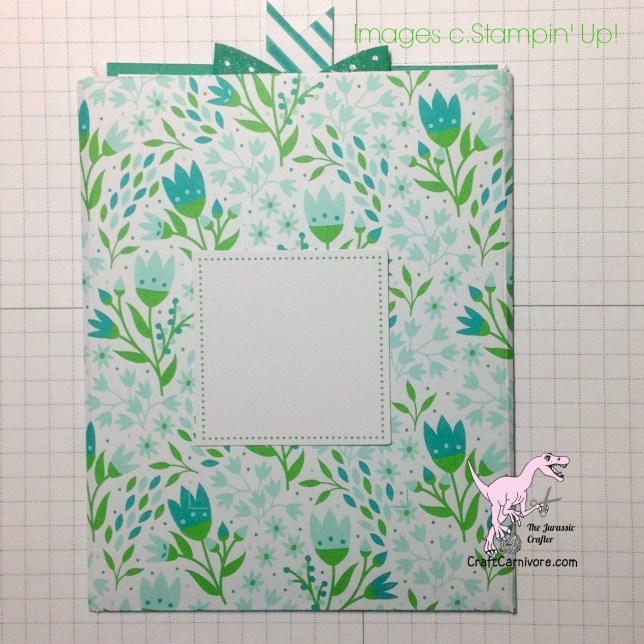 Criss cross card using Pocketful of Cheer My Paper Pumpkin Kit and Emerald Envy from Stampin' Up!