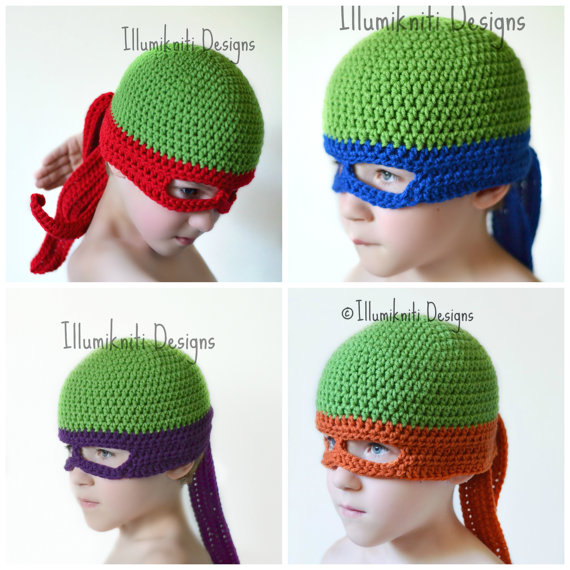 Free Crochet Pattern For Ninja Turtle Hat With Mask : Crochet Kids Turtle Ninja Mask ? Craft Gossip