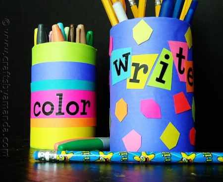 pencil holders for back to school - craftsbyamanda.com