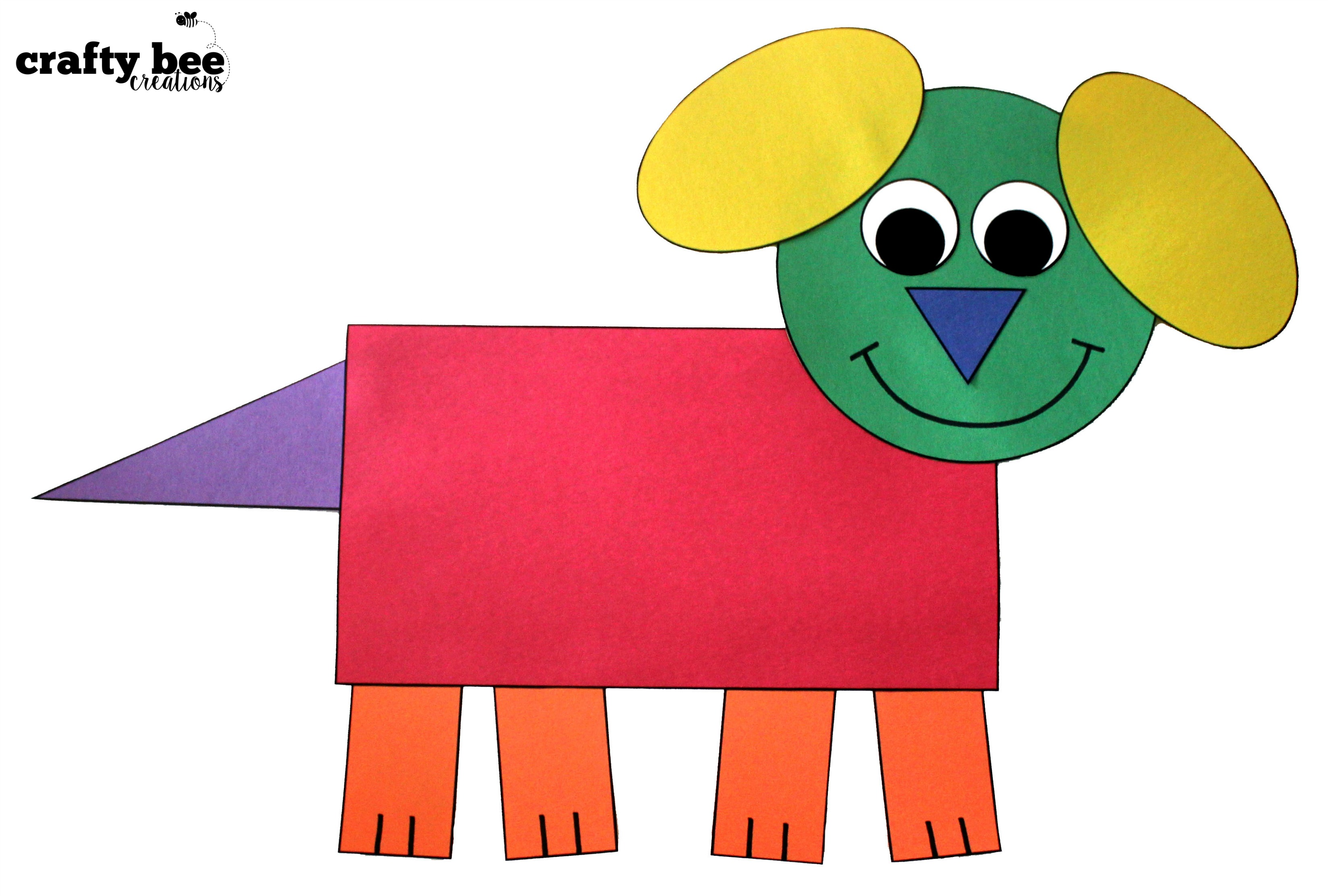 Shape Cat Cut and Paste Shape Dog Cut and Paste Shape Mouse Cut and ...