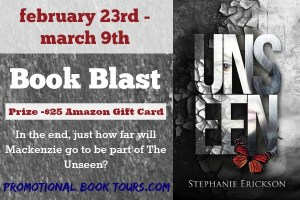 Unseen by Stephanie Daniels #bookBlast #Giveaway