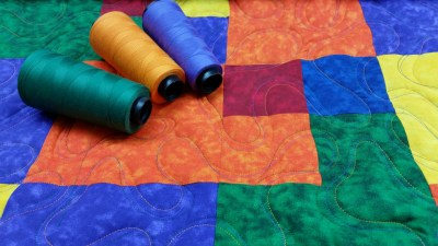 Triple Color Ribbon Quilting