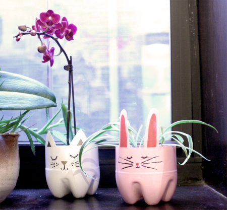 bunny planter tutorial from craftywhatnot.com
