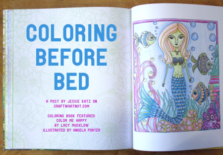 coloring as meditation before bed | craftywhatnot.com