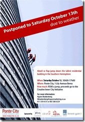 Ponte City abseil and rap jumping