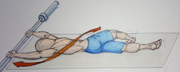 Do some full body twists and bends. For extra credit stick that foam roller under your scapula to really stretch out the front shoulder.