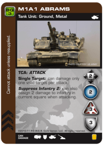M1A1 Abrams Armor card for P.O.W.E.R.