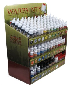 Army Painter Display with 36 Warpaints.