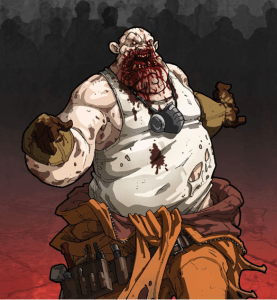Obese blood-smeared Fatty zombie artwork for Zombicide