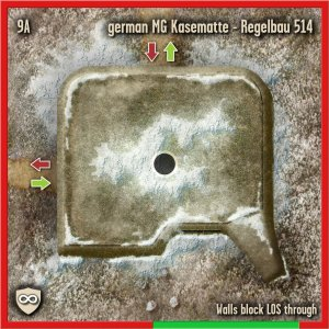 Bunker Tile for Spearpoint 1943 from Collins Epic Wargames showing a bunker complex