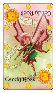 Guitar-jamming Candy Rock fairy from Goblins Drool, Fairies Rule