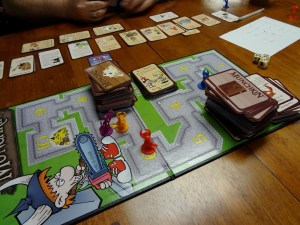 Deluxe Munchkin game board dungeon and Munchkin playing cards