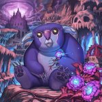 Cute adorable Koala-looking Squeaky from Hasbro Studios' Kaijudo, a purple mammal