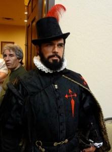 Re-enactor Chad Light at Combat Con in Las Vegas in Fancy Dress