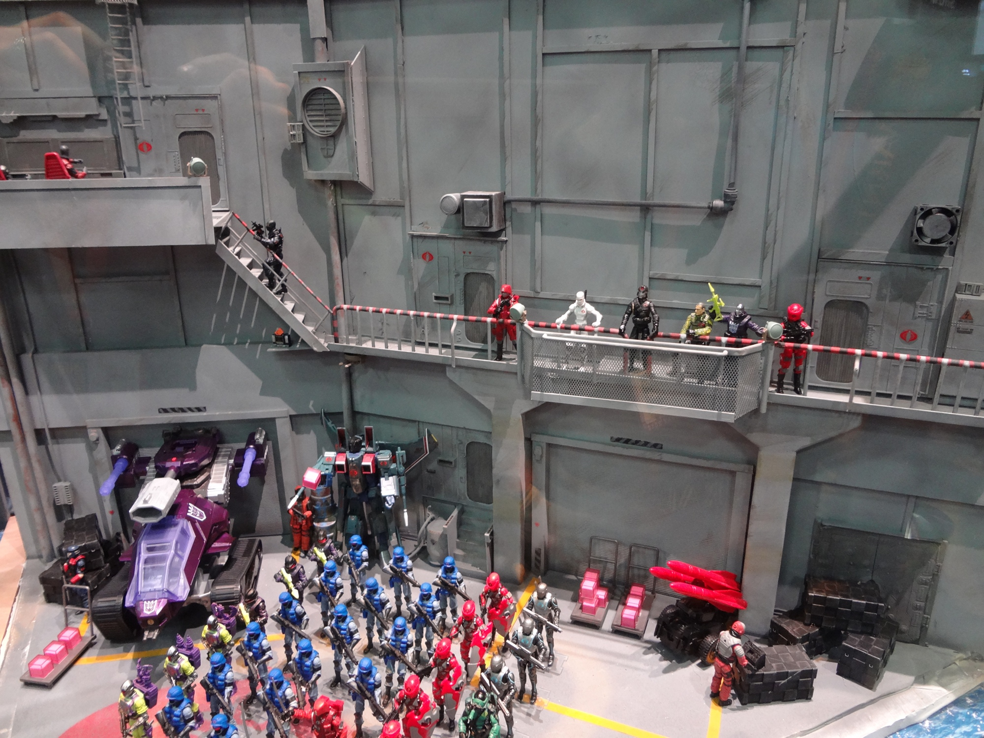 Diorama At The 2012 Hasbro Booth At Comic Con With Gi