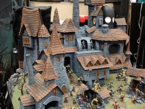 Miniature castle from Cool Mini or Not's miniatures booth