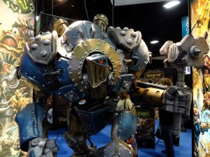 Human-sized statue of Ironclad Warjack from Privateer Press at Comic-Con 2012