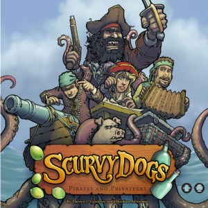 Board Game Cover with Pirates and Privateers for Scurvy Dogs