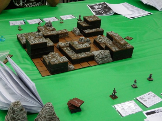 Game of skirmish miniature game Collision at Gen Con in 2012