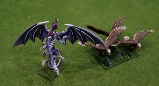 Warmaster-scale Dragon and Eagles for High Elves army at Gen Con