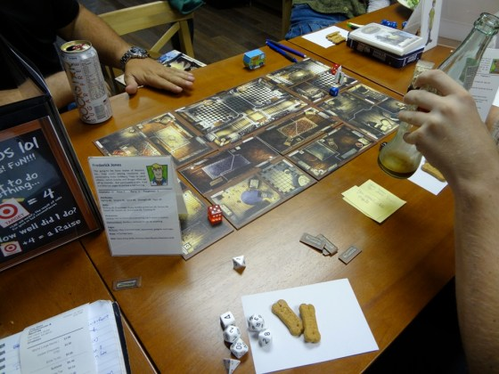 Mansions of Madness board tiles used for Savage Worlds gam of Scooby-Doo