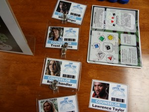 In Character Name Tags for Undead Smurfs Meet Camp Crystal Lake Counselors for Savage Worlds