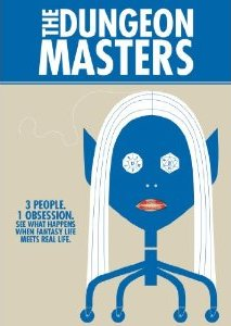 Blue skinned cartoon drow on cover of 2008 DVD Jacket of The Dungeon Masters