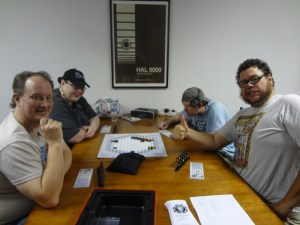 Gamers try Fantasy Flight Games Ingenious Board Game at Vegas Game Day