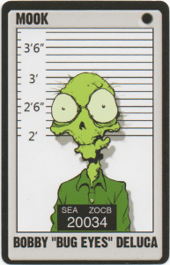 Tiny Bug-Eyed Zombie Bug Eyes from Deadfellas Card Game