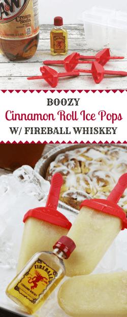 Arresting Vanilla Ice Cream Inspired By Cinnamon Roll Se Delicious Fireball Whiskeycinnamon Roll Ice Pops Are Fireball Whiskey Cinnamon Roll Boozy Ice Pop Recipe Fireball Whiskey Ice Cream Fireball Wh
